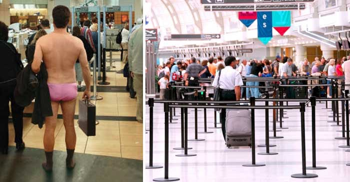 Airlines Advise Travellers To Arrive In Underwear To Aid Airport Security Checks